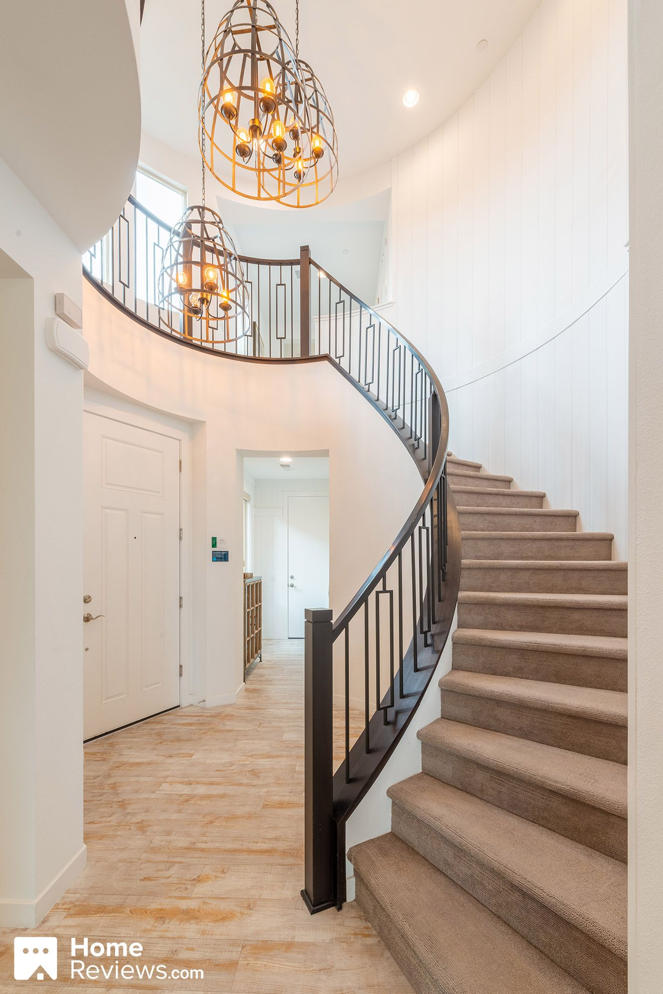Best Stairs Staircase Wood Railing Carpeted Stairs 400 x 300