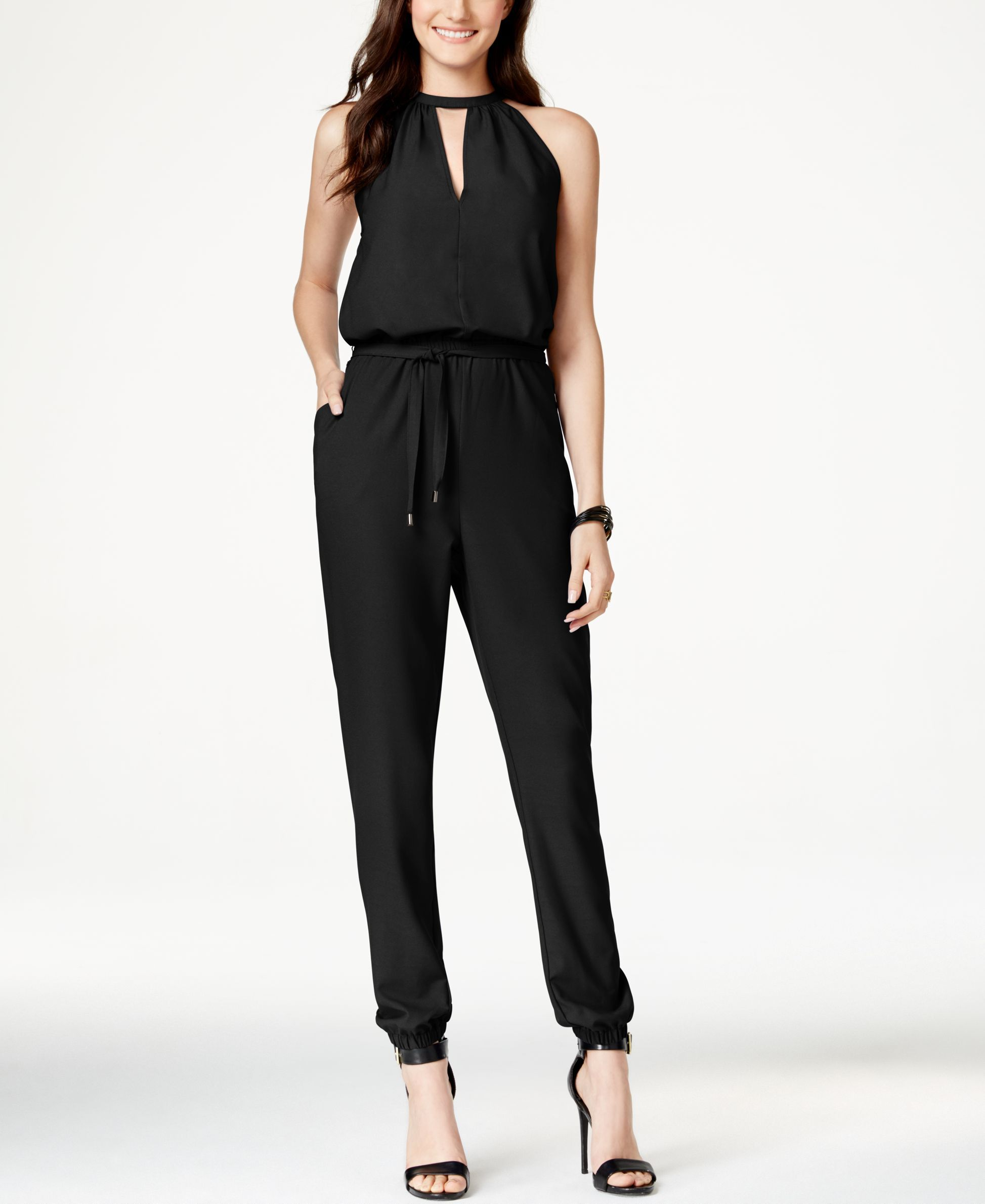 0718dd8a4914 Marilyn Monroe Juniors  Belted Jumpsuit