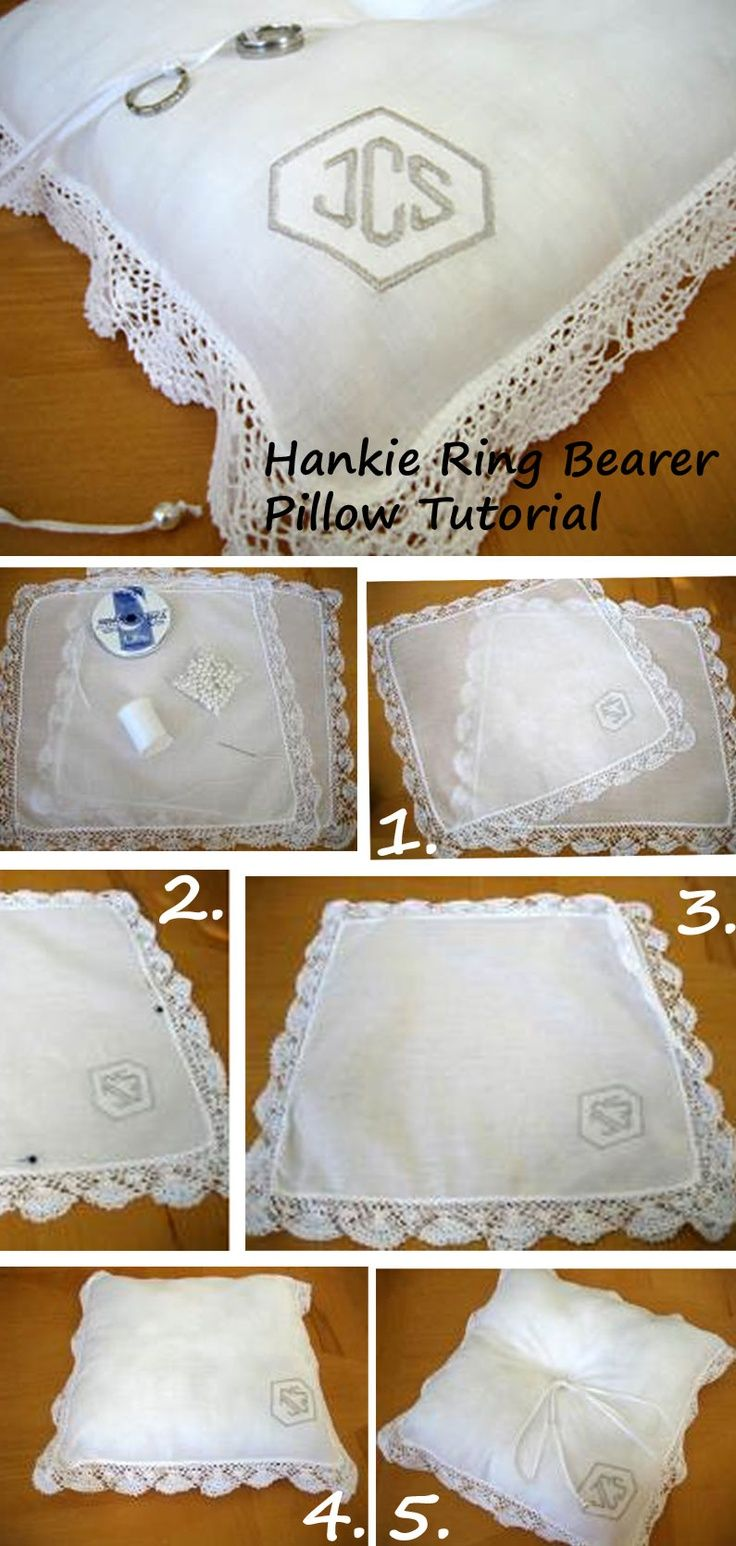 Diy hankie ring bearer pillow made out of handkerchiefs so easy diy hankie ring bearer pillow made out of handkerchiefs so easy to make http junglespirit Choice Image