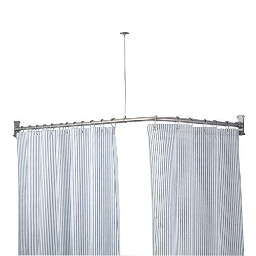 Naiture 72l X 36w Brass Extraheavy Corner Shower Curtain Rod