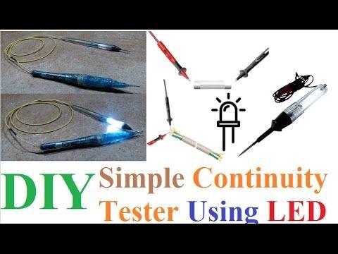 Simple Easy Continuity Tester Using Led Diy Tutorial Led Diy Diy Tutorial Phone Craft