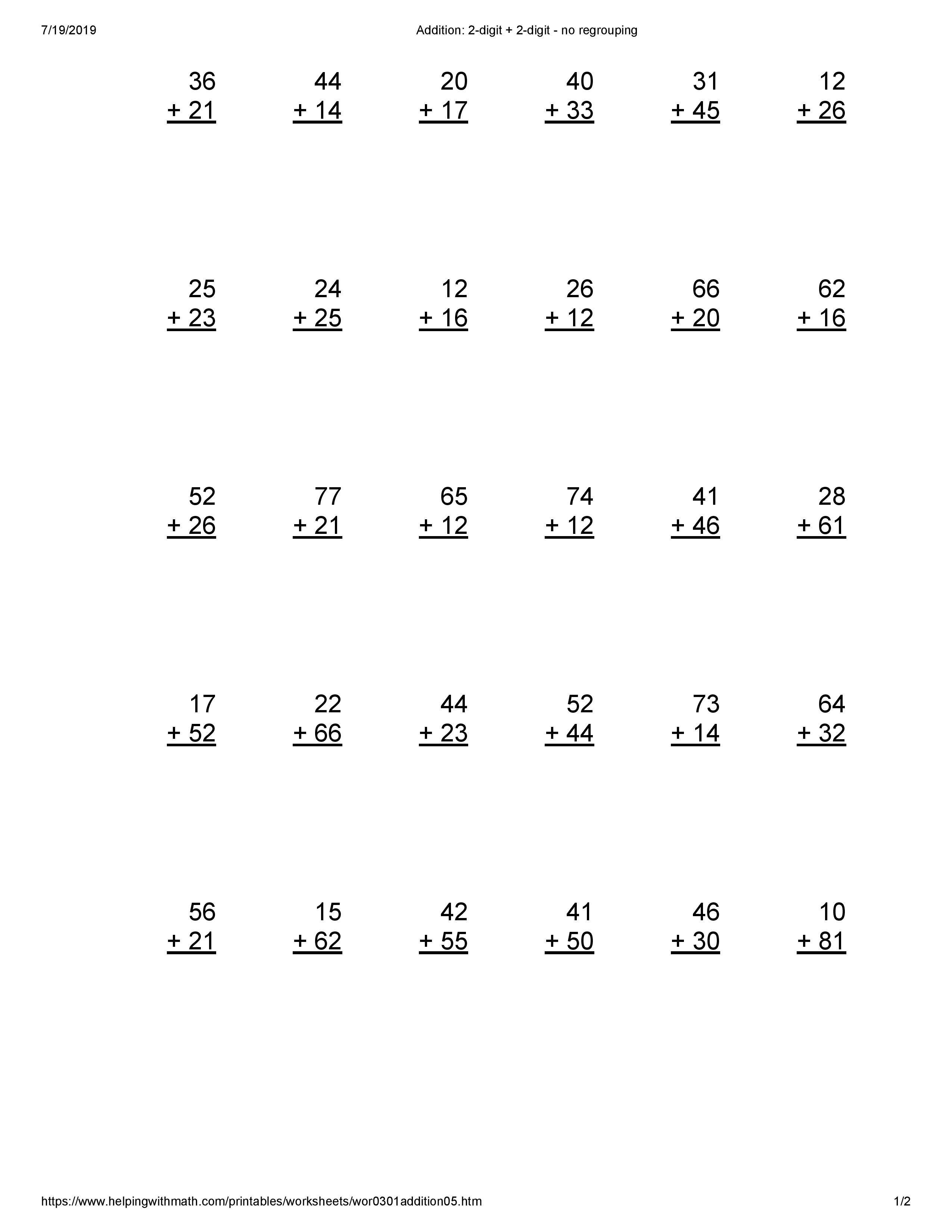 Best 15 Addition Worksheets