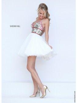 Sherri Hill 50475 | Find this 2016 short prom dress at www.henris.com