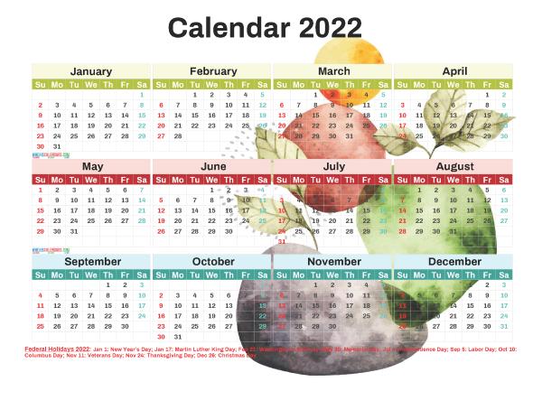 Meme Calendar 2022.Printable 2022 Calendar With Holidays Free 12 Templates Watercolor Printable Calendar Template Holiday Templates Calendar