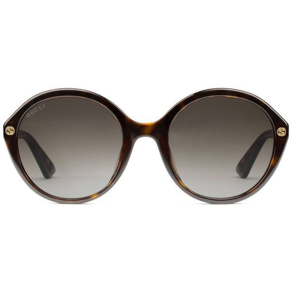 edce72e8db5 Gucci Round-Frame Acetate Sunglasses ( 250) ❤ liked on Polyvore ...