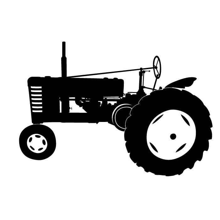 Old Ford Tractor Decals : Tractor silhouette clip art antique