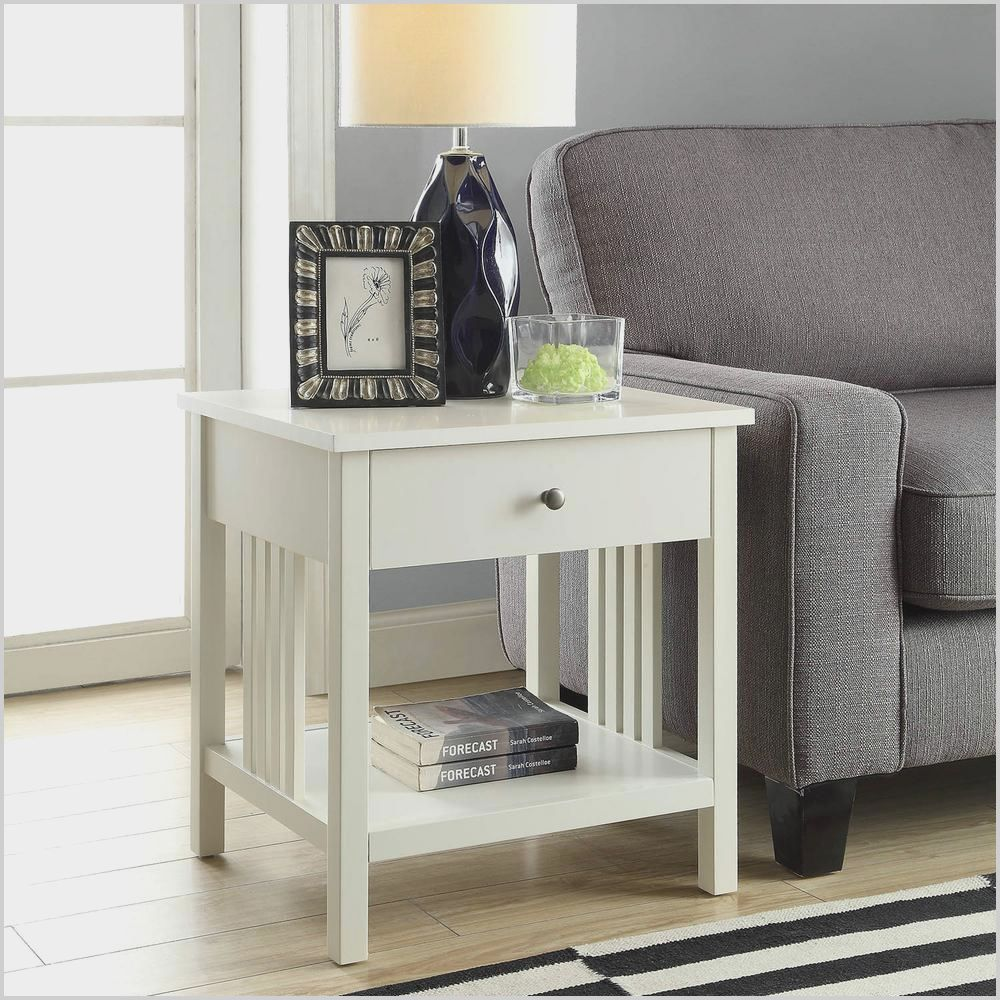 White Square Living Room End Tables Di 2020 #white #side #table #for #living #room