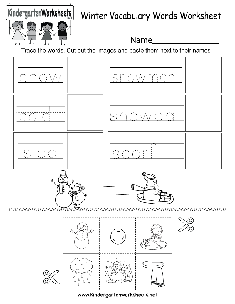 Predownload: This Free Kindergarten Worksheet Has Words That Are Commonly Used During The Winter Season Kids Can Trac Vocabulary Word Worksheet Vocabulary Words Vocabulary [ 1035 x 800 Pixel ]