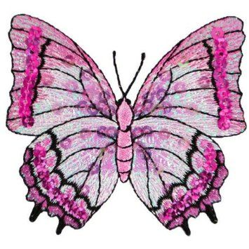 Amazon.com: Expo MBP101MV Iron-On Embroidered Sequin Butterfly Applique, Mauve: Arts, Crafts & Sewing