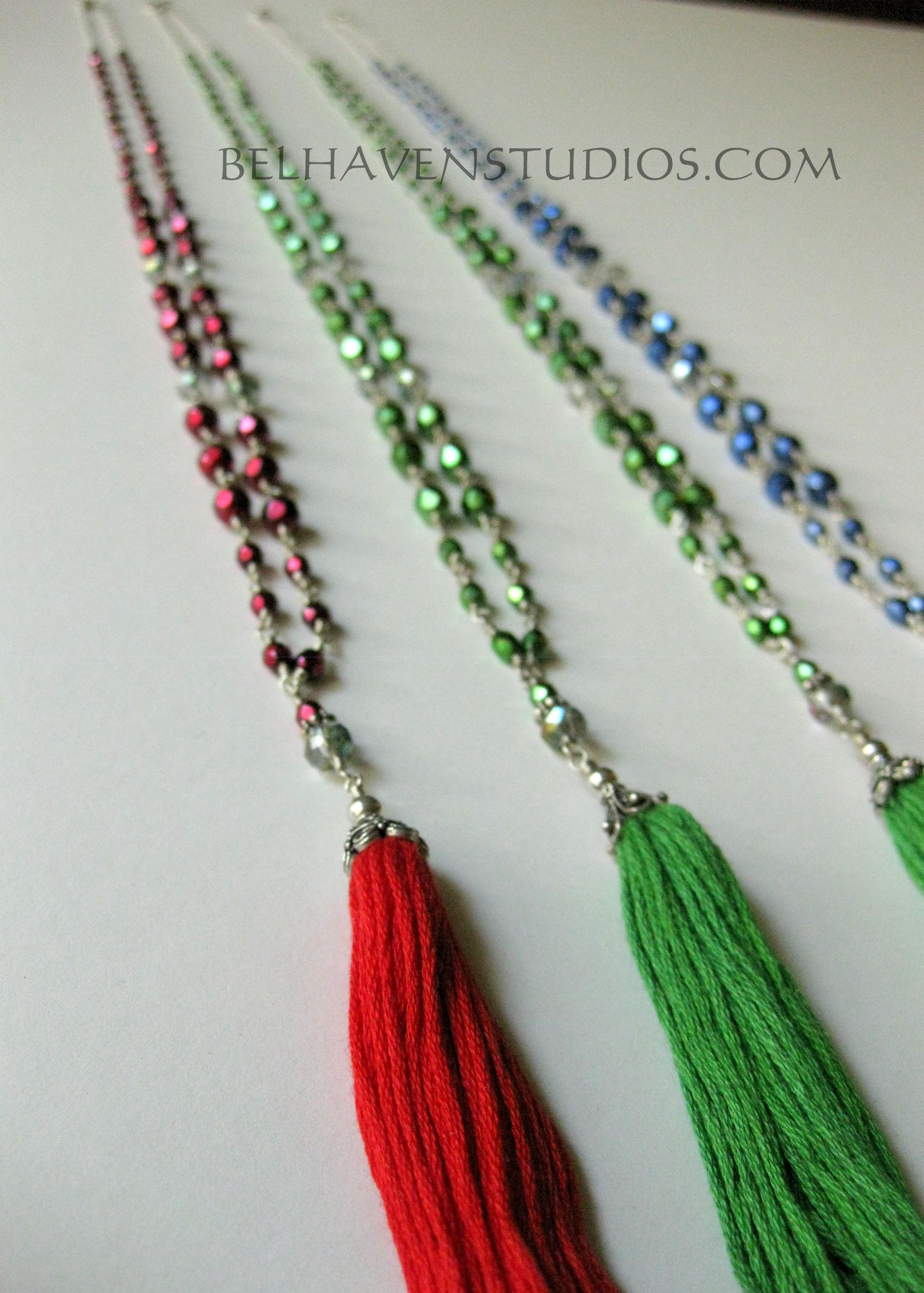 Hand wired wrapped crystals Balinese sterling silver Tassel necklace ...
