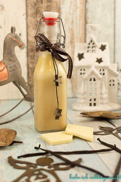 Ein Klassiker ist dieser leckere weiße Schokoladenlikör -oder auch bekannt als Engelslikör. Und es ist ein absolutes Last Minute Geschenk.