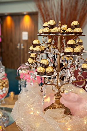 Ferrero Rocher In An Elegant Display Pink And Gold Candy