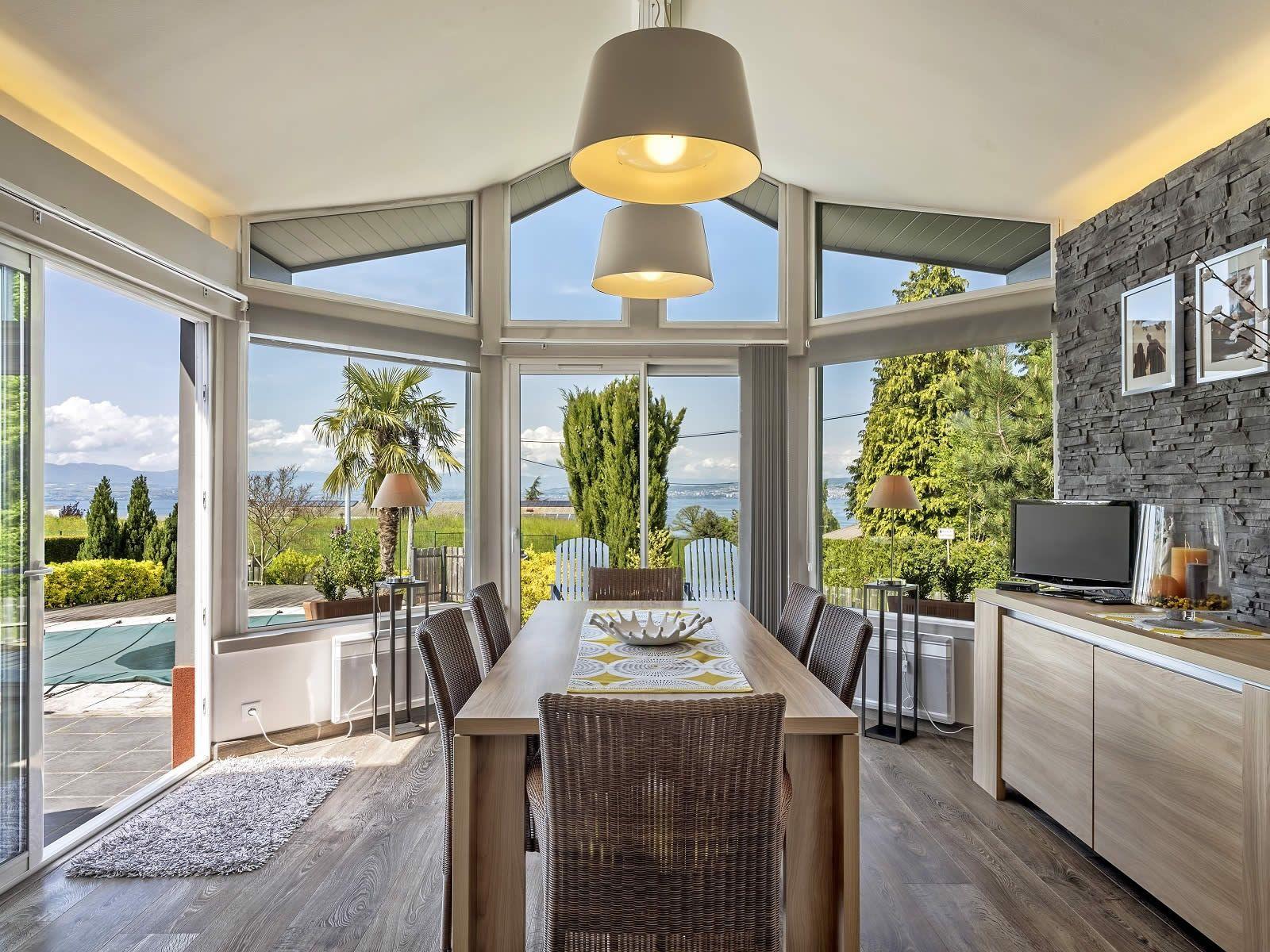 Modern House for sale in Evian Heated Veranda, Fireplace