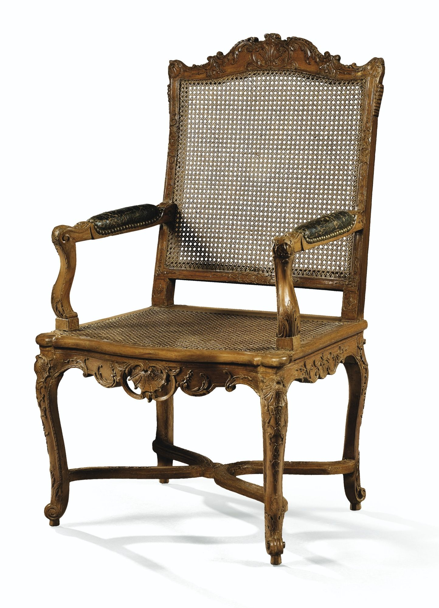 Fauteuil Canne A Haut Dossier En Hetre Naturel Sculpte D Epoque Regence Lot Sotheby S Chair Caned Armchair Comfy Chairs