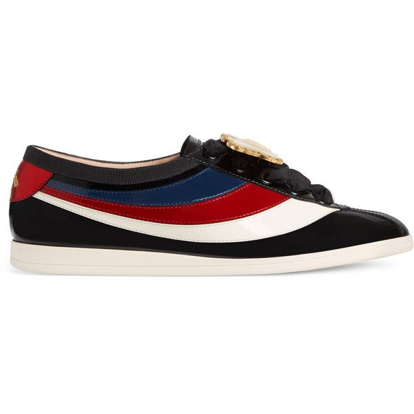 150c7d32d5c Gucci Falacer Patent Leather Sneaker With Web ( 1