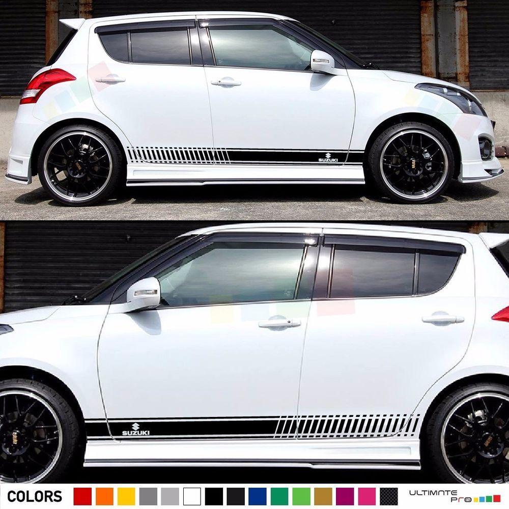 Sticker Graphic Stripe Kit For Suzuki Swift Xenon Headlight Skirts Door Lip Trim Ultimateprocy1 Suzuki Swift Stripe Kit Suzuki [ 1000 x 1000 Pixel ]