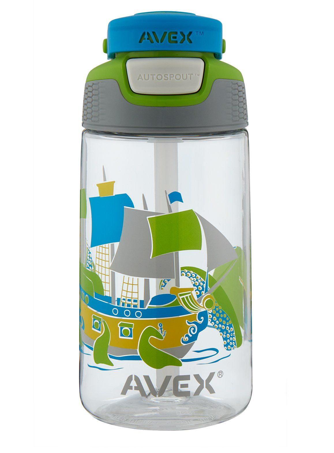 23f2405390 AVEX Kids Freestyle Ship Autospout Water Bottle Clear 16 oz -- You can find  out more details at the link of the image.(It is Amazon affiliate link) #  ...