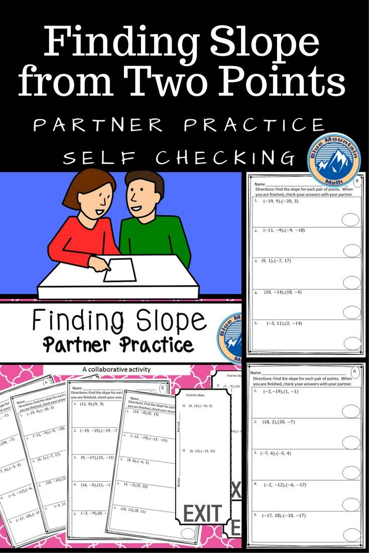 Slope from Two Points Partner Practice (With images