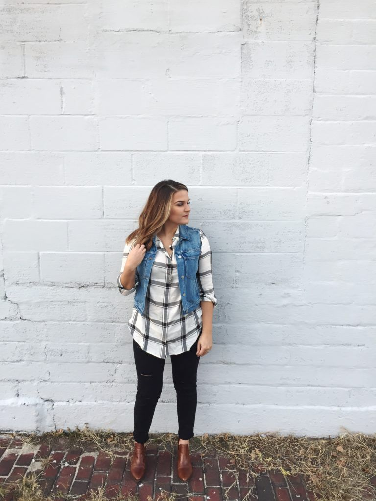 Ripped jeans flannel shirt  Mad for Plaid  Love Always Ashley J  Womanus dress  Pinterest