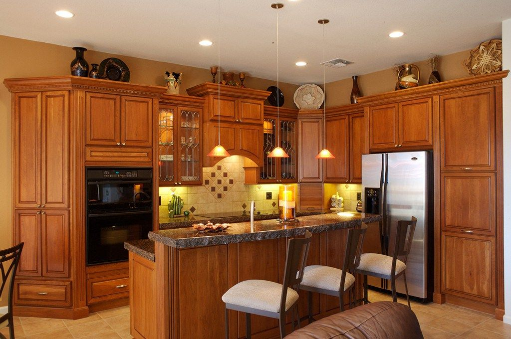 traditional kitchen remodel renovation natural cherry ...