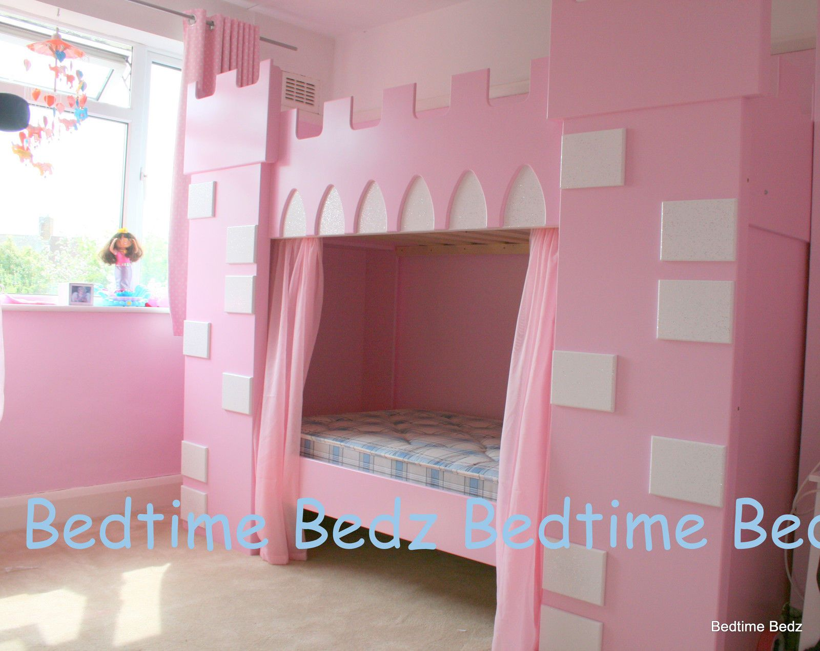 NEW Girls Princess Castle Bed Pink Lilac or White