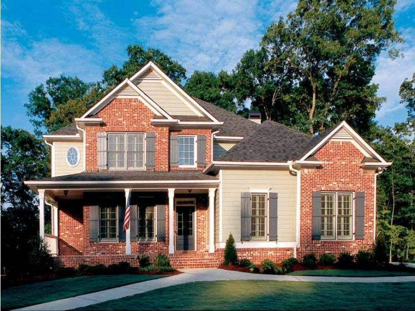 Colonial House Plan with 2040 Square Feet and 3 Bedrooms from Dream Home Source | House Plan Code DHSW38727