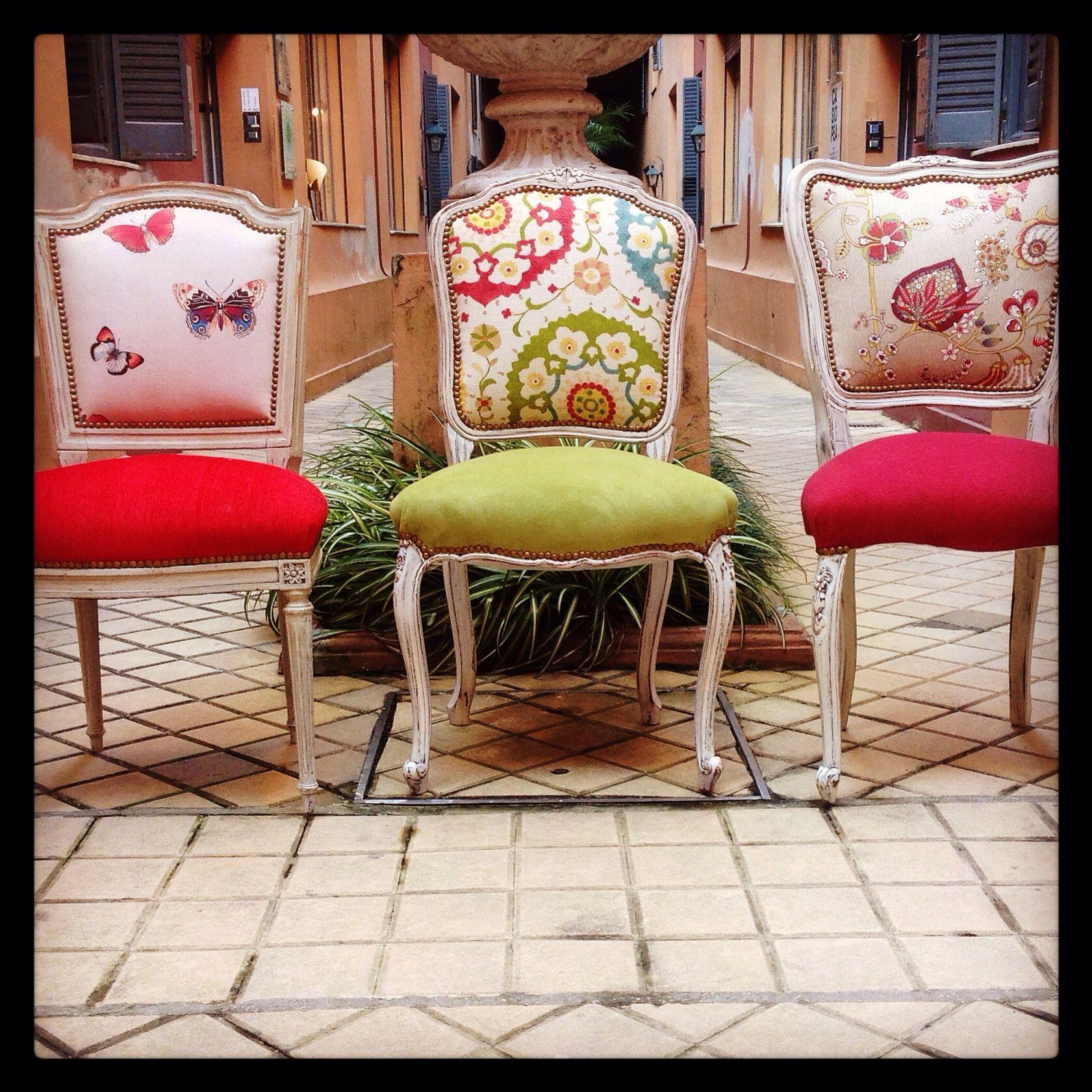 Sillas francesas antiguas comedor pinterest sillas for Sillas tapizadas colores