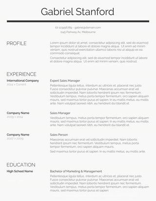 75 Free Resume Templates for MS Word Template and Free - resume templatr
