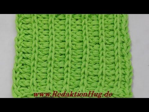 Tunesisch Häkeln - Rippenmuster Klara - Veronika Hug | Crochet ...