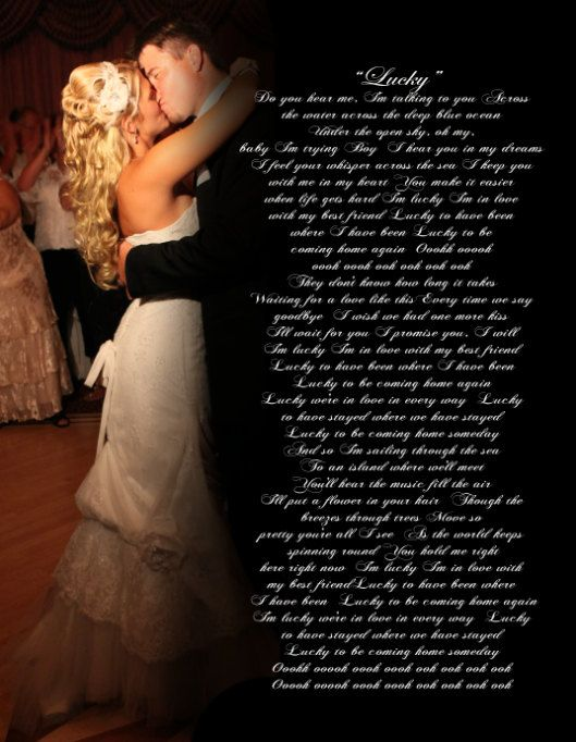 First Dance Picture With Lyrics Of The Song Kristyn Benwedding