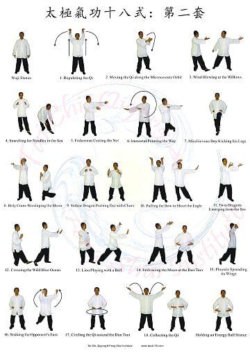 Shibashi 2nd Set Poster Pdf Onedrive Tai Chi Qigong Tai Chi Tai Chi For Beginners