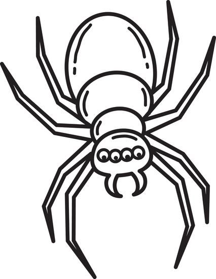 Free printable halloween spider coloring page for kids simple cartoon halloween coloring and free printable