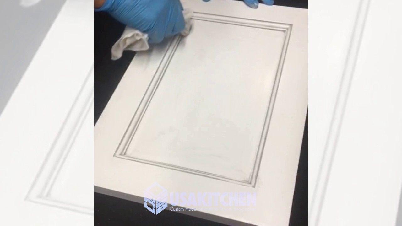 Best White Shaker Cabinet Door With Gray Glaze Work Process 640 x 480