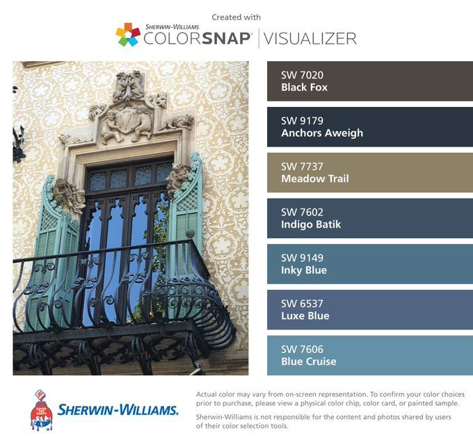 Anchors Aweigh paint color SW 9179 by Sherwin-Williams. View interior and  exterior paint