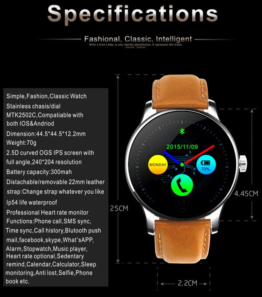Hot New Smartwatch Push messages, Smart watch, Simple style