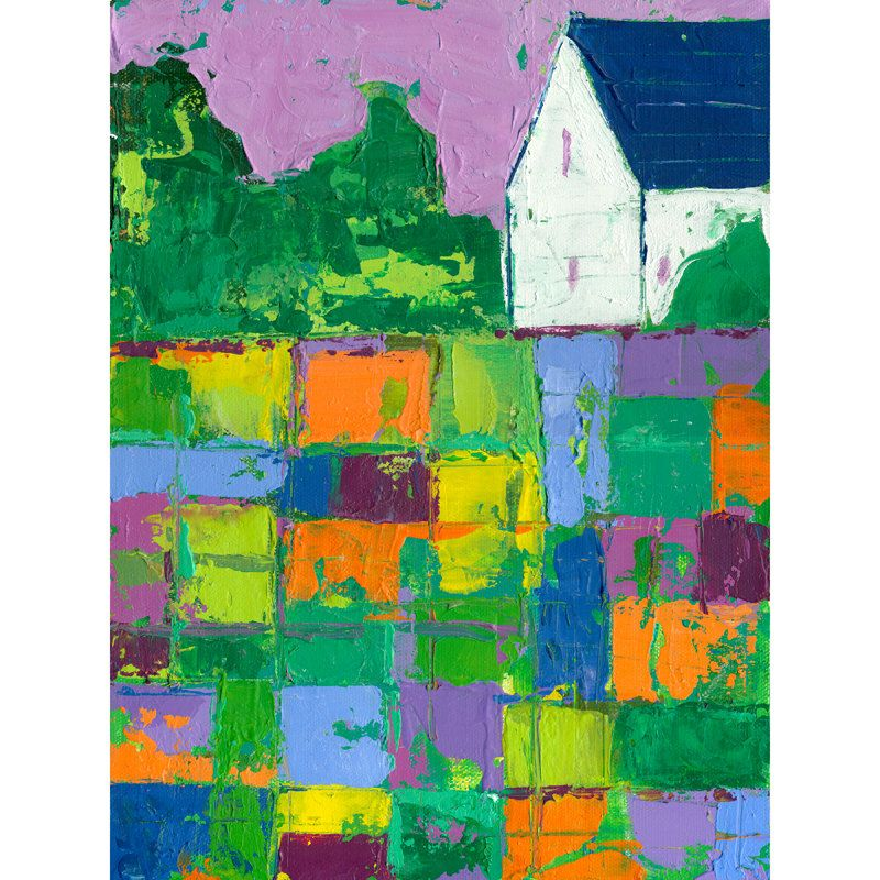 Abstract Farm- Kids Stamp Large Sections