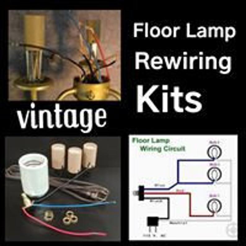 Lamp Rewiring Kit For Vintage 3 Arm Floor Lamp Etsy In 2021 Floor Lamp Vintage Floor Lamp Arm Floor Lamp