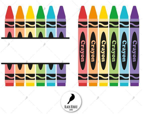 Crayon Svg Colors Svg Crayola Svg Crayon Clipart Crayon Monogram Svg Teacher Svg Scho Etiquetas De Material Escolar Dibujo De Escuela Decoracion De Aulas