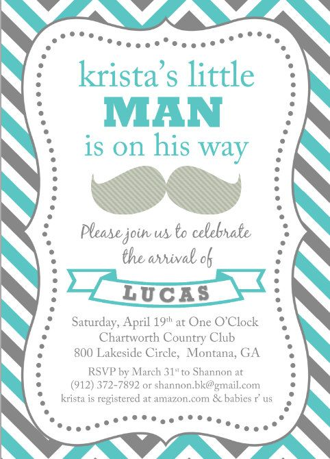 so adorable! Baby boy shower invitation   mustache, little man - free download baby shower invitation templates
