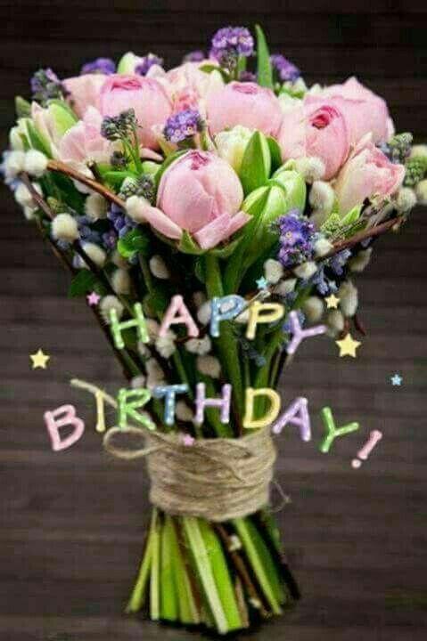 Pin Von Sandy Walton Auf Happy Birthday Blumenstrauss Geburtstag Fruhlingsstrauss Geburtstag Blumen