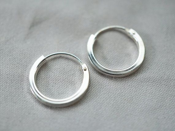 Tiny hoop earrings Small hoops second by TwiggySilver on Etsy