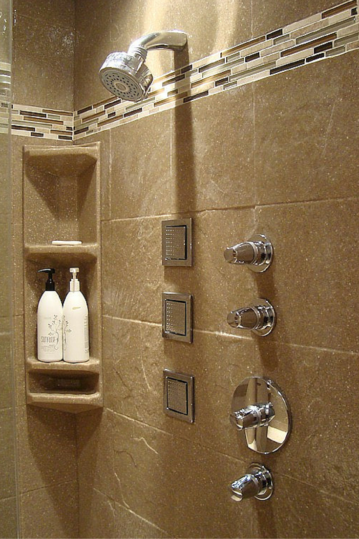 How to Select a Stone Solid Surface Shower Kit | Pinterest | Shower ...