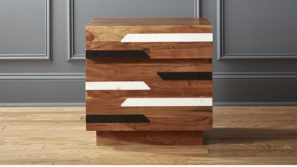Best Edie Marble Inlay Nightstand Cb2 Marble Inlay Wood 640 x 480
