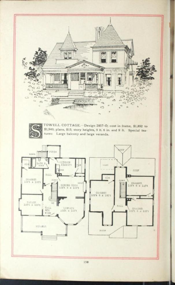 Artistic Homes Herbert C Chivers Architect Vintage House Plans Victorian House Plans House Floor Plans