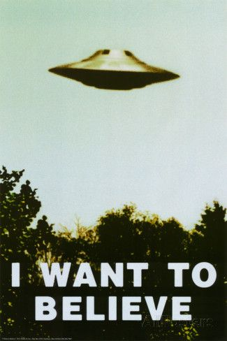 X Files inspired I believe poster print wall art gift decor mulder and scully