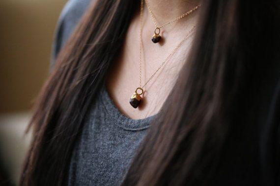 Raw Garnet Pendant Rough Garnet Necklace Rough by Ringcrush