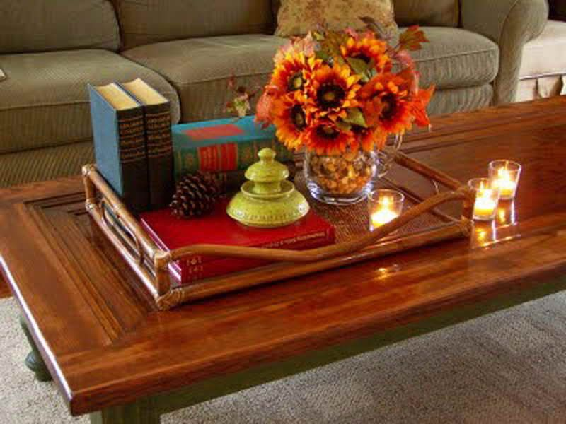 Coffee Table Decorating Ideas  with tray