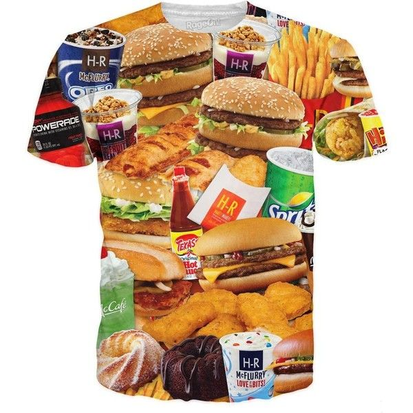 Hi Rez's McDonald's Order T-Shirt *Ready to Ship* ($40) ❤ liked on Polyvore featuring tops and t-shirts