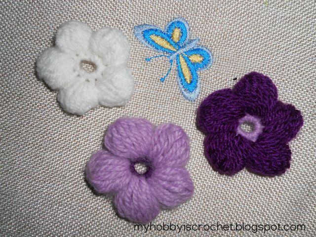 5 Petals Cluster Flower- Free Pattern with Phototutorial and Chart ...