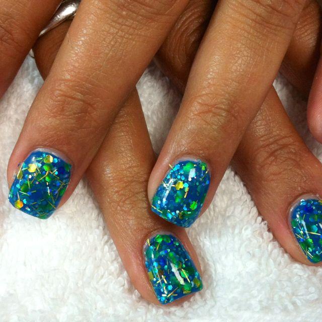 Blue gel w/glitter  I want this!